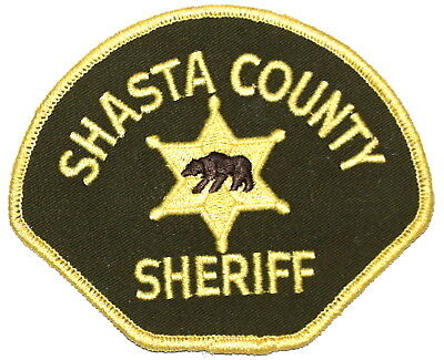 SHASTA COUNTY CALIFORNIA CA Sheriff Police Patch WALKING BEAR VINTAGE OLD MESH ~