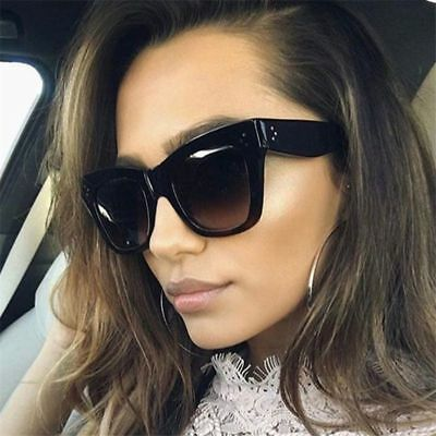 Cat Eye Women Sunglasses Fashion Vintage Eyewear Retro Oversized Shades UV400