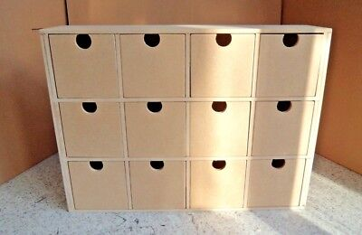Hand Crafted Small Freestanding 12 Drawer Unit Storage Unit