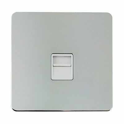 Schneider GGBGU7462WPCRP Secondary Telephone Outlet - Polished Chrome Screwless