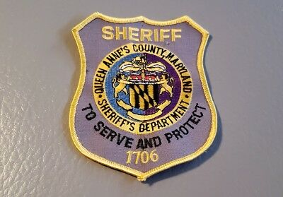 Queen Anne's County Maryland Sheriff Shoulder Patch