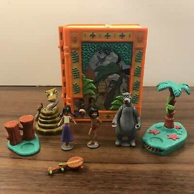 Vintage Disney Jungle Book Play,Polly Pocket Type Play set ,Rare Near Complete