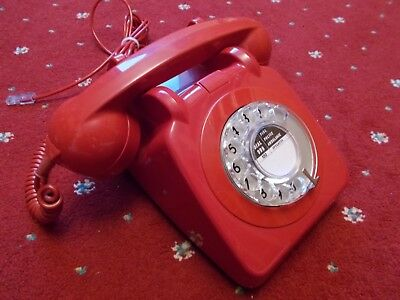 Original Red GPO 706 Telephone 1967 - Converted
