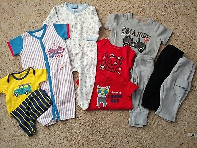 Boys Winter Mixed Clothing Lot Of 10 Size 6-9 Mos EUC!