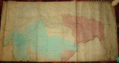 1768 antique Map of East Indies with Roads northern India Thomas Jefferys Sayer