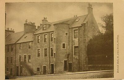 BOTHWELL HALL ST JOHNS STREET STIRLING c1905 PC