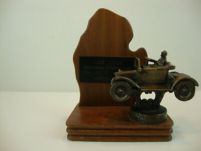 Ford Employee Of The Month Metal Trophy From The Woodheaven Stamping Plant