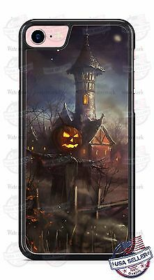 Halloween Scary Scare Crow Haunted Night phone case for iPhone Samsung LG Gift