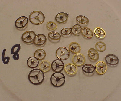 VINTAGE #68 SMALL CYLINDER BALANCE WHEELS ASSORTED GROUP S LaROSE OLD STOCK