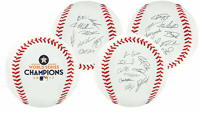 Rawlings Houston Astros 2017 World Series Autograph Roster Champions Baseball