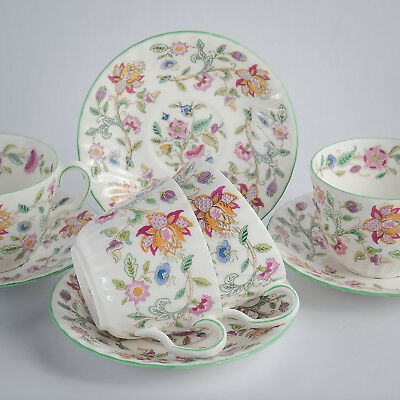 Minton HADDON HALL Four Breakfast Cups & Saucers Made in England - 1st Quality