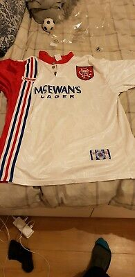 Glasgow Rangers 1996 1997 Away Original Vintage Football Shirt - L
