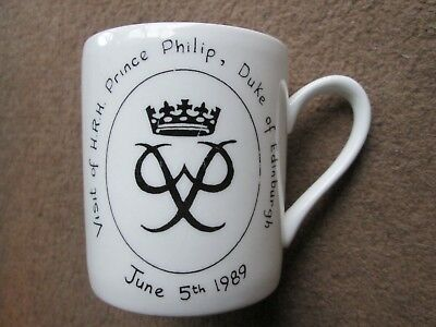 Etchurch Mug for Visit by Prince Philip to Fairfax School, Sutton Coldfield, 198