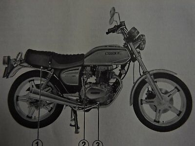 1978 HONDA CB400T MOTORCYCLE OWNERS MANUAL- 40 years old-