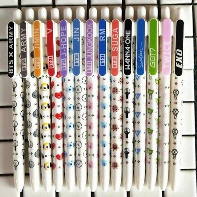 BT21 Black Ink Gel Pen Jimin Jungkook Cute Cartoon Ballpoint Pen Gifts