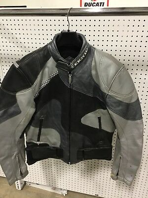 Teknic Leather Motorcycle Jacket Perforated Mens 46