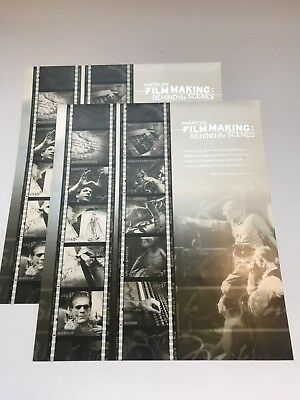 American Film Making Behind the Scenes 37 Cent Stamps US Sheet  2002 Lot of 2