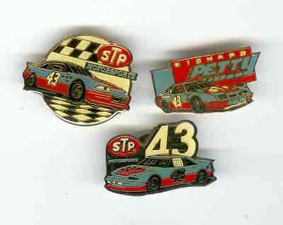 LOT OF 3 PINS VINTAGE RICHARD PETTY PONTIAC STP PINS  MADE IN 1980s