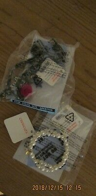 NWT j crew crewcuts girls Ring  / Bracelet / and Necklace . 3 pieces .