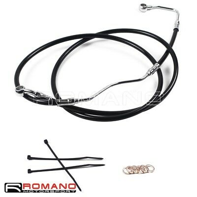 "Stainless 16"" Black Upper Front Brake Line Kit For Harley Touring 2009-2013"