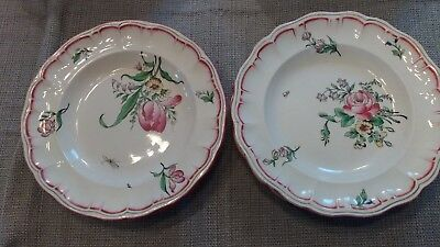 Antique Luneville Strasbourg Pattern, French Demi-Porcelain - 20pc Lot of Dishes