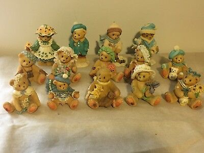 Lot Of 14 Cherished Teddies Mostly 1990's Figurines