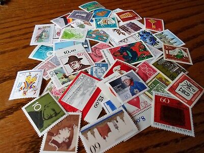 Collection lot 45 different West and Modern stamps of Germany MNH