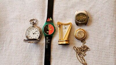 Job lot of various watches all working some need attention read description