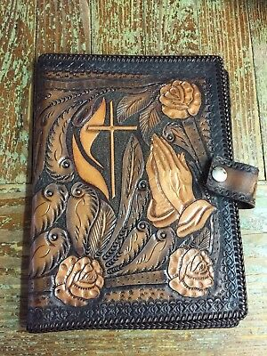 Vintage Tooled Leather Bible Cover