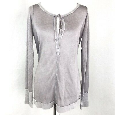 d59ff31b979b6 Free People Long Sleeve Sweater Size Medium Womens Taupe Knit Oversized  Loose