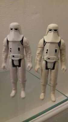 Vintage Star Wars Figures ~ PAIR OF IMPERIAL HOTH SNOWTROOPERS