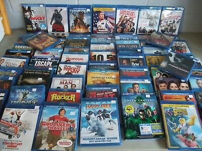Blu-Ray Movie Lot of 66