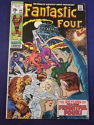 FANTASTIC FOUR #94 1 OWNER VGFN FRIGHTFUL FOUR 1st APP. AGATHA HARKNESS KEY 1970