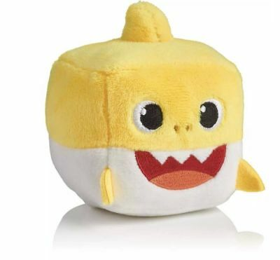 Pinkfong Authentic BABY SHARK Sound Plush Doll CUBE toy - ENGLISH SONG NWT
