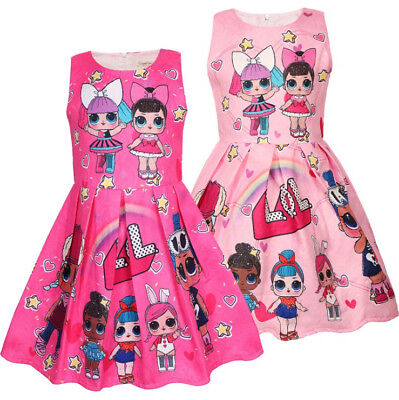 New Girls Lol Surprise Doll Princess Dress Kids Party Birthday Holiday Dress
