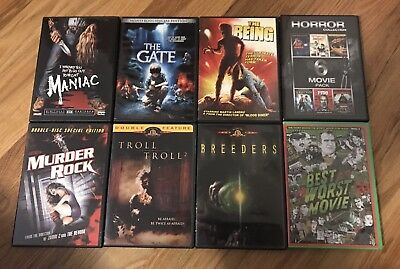 DVD Horror Lot, Maniac, The Being, Murder Rock, The Gate...