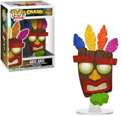 Crash Bandicoot - Aku Aku - Funko Pop! Games: (2018, Toy NEUF)