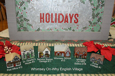 SIX Porcelain Wade WHIMSEY On-Why English Village Miniature Pieces CHECK it Out!