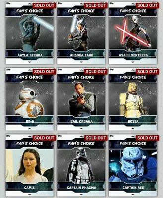 Topps Star Wars Card Trader Fans Choice Series 2 + All Awards Inc!!!