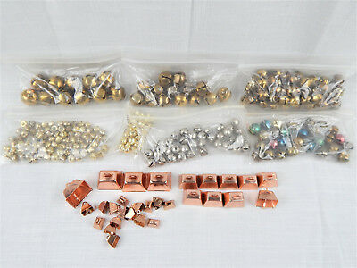 300 Pc Mixed Lot Christmas Metal Jingle Bells Assorted Sizes for Crafting