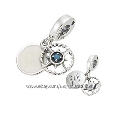 COMPASS ROSE Charm AUTHENTIC PANDORA SILVER CHARM  797196EN23