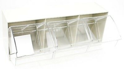 Akro-Mils 06703 TiltView Horizontal Plastic Storage System with Three Tilt Out