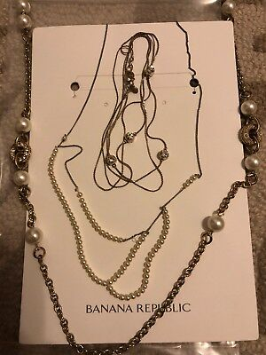 Banana Republic Set Of Three Necklaces