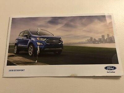 2018 FORD ECOSPORT 6-page Promotional Original Sales Brochure