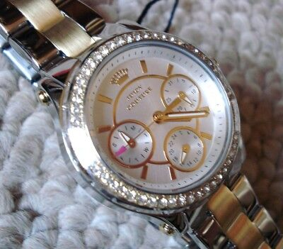 NEW 1901107 Juicy Couture Watch by Movado Ladys Two Tone Crystal Bling Watch