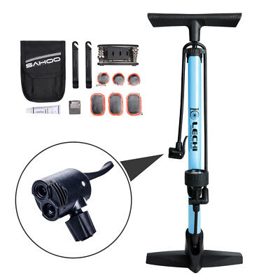 Bicycle Floor Pump Tire Pump With Gauge For Roads And Mountains Suitable Pump