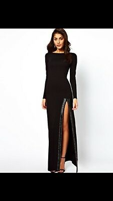 ASOS Size 6 Dress With Full Sleeves And Thigh High Split
