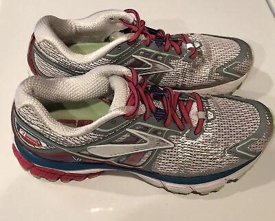 aab08ba91b8 Brooks Ravenna 6 Women s Running Shoes White Raspberry Blue Size 8.5 Medium