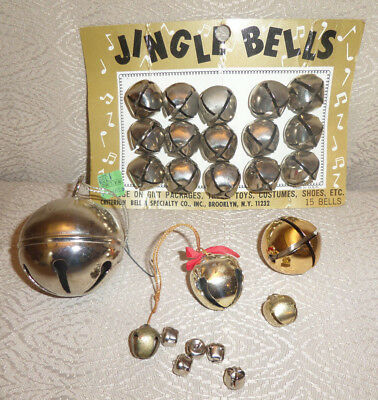 Jingle Bell Lot of 25 Large Small Vintage