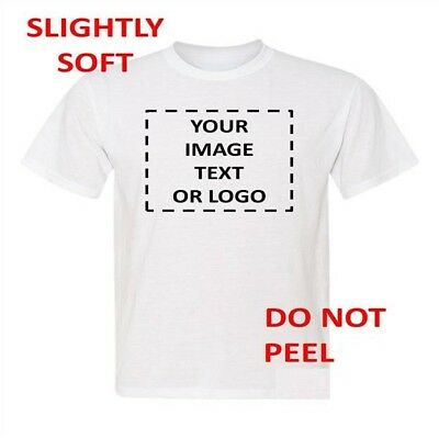Custom printed white T-shirt  Personalized Photo, logo, put your own picture